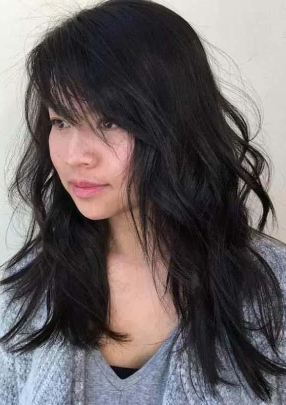 10 Cutest Long Layered Haircuts With Various Types Long Hair Styles Long Hair With Bangs Side Bangs Hairstyles
