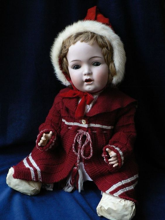 """Antique Rare 24"""" Large Gebruder Heubach Character Baby 10617"""