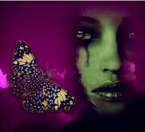 Lydia Anneli Bleth: BELLA DONNA digital artSchmetterlinge