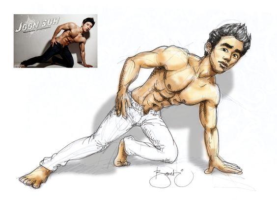 Asian muscle drawing by #masbambi #cartoon #caricature #muscle #animationdrawing #karakter #asianmuscles #lmen #drawing #hunkart #asianhunks #sixpack #sixpacks #asianhunk #sketch #sketsa #doodles #doodle #doodle 