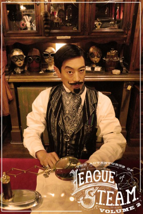 Grant Imahara from Mythbusters as Sir Angus De Cranium in an episode of The Adventures of the League of S.T.E.A.M.;: Steampunk Fashion, Steampunk Dieselpunk, Steampunk Gentlemen, Steam Punk, Project Steampunk, Steampunk Inspiration, Steampunk Characters, Steampunk Clothing