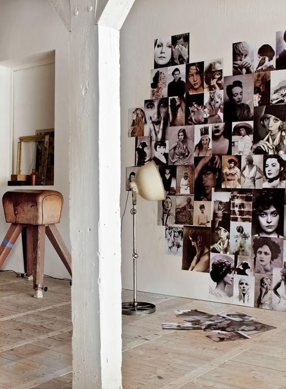 Faire un moodboard : Au gré de votre humeur, prenez vos photos et donnez leur une forme sur un mur. #moodboard #DIY #photos