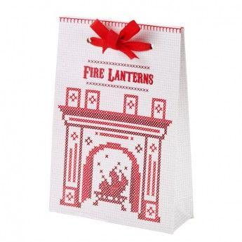 Cross Stitch Crimbo Firebag Lanterns