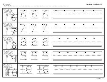 math worksheet : handwriting and numbers on pinterest : Numbers 6 10 Worksheets For Kindergarten