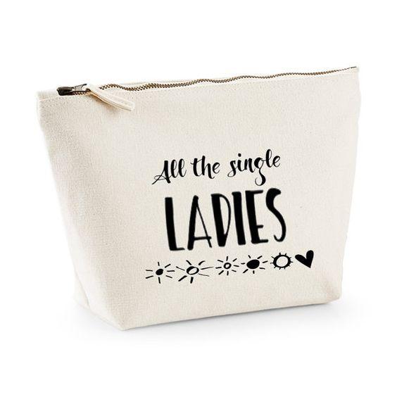 Cream Bridesmaid vanity toiletry bag by ZoeEdenWeddings on Etsy