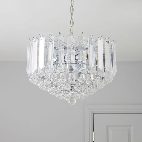 procopio faceted glass clear 2 lamp pendant ceiling light ceiling dining room lights photo 2