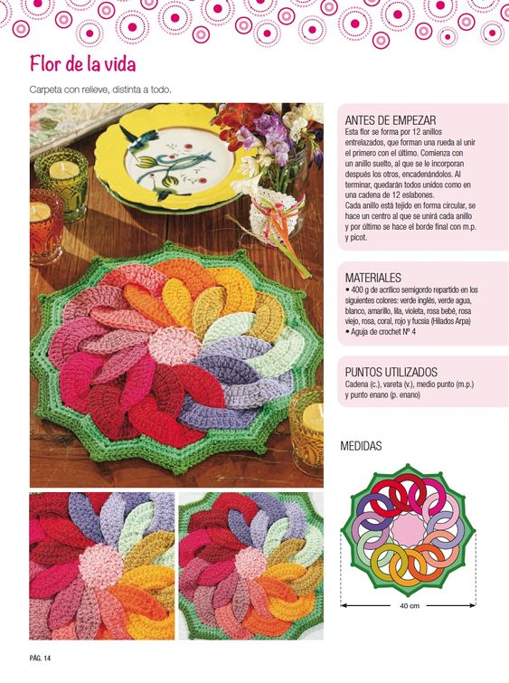 Carpeta con relieve - Deco Crochet