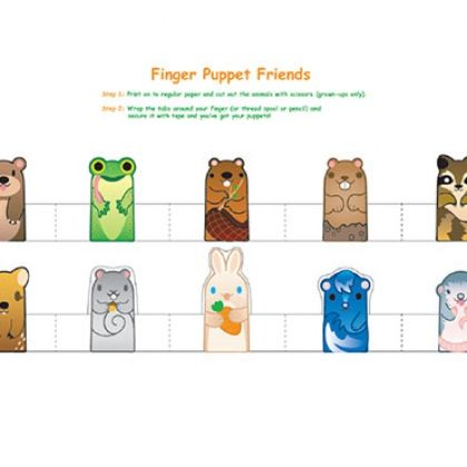 paper finger puppets templates - free printable woodland animal finger puppets free