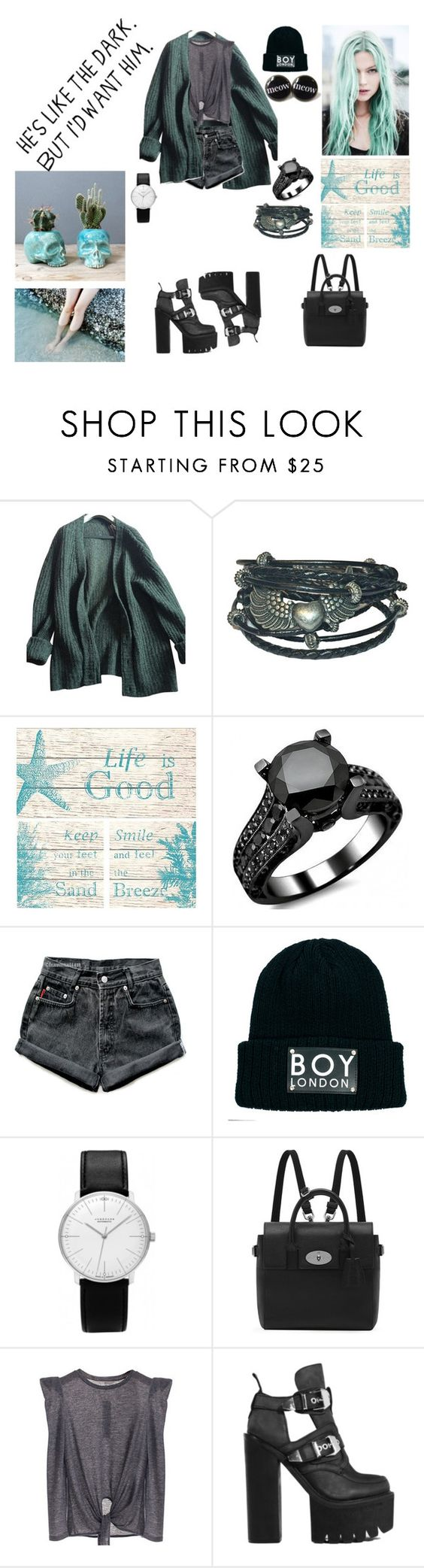 """""""he's the dark"""" by akemi-kiryu ❤ liked on Polyvore featuring Prada, Universal Lighting and Decor, Levi's, BOY London, Junghans, Mulberry, Jeffrey Campbell and bedroom"""