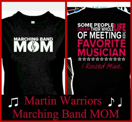 Martin Warriors BAND MOM by BlingU on Etsy, $22.00 ~Awww!
