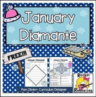 math worksheet : free language arts lesson  u201cjanuary diamante poemu201d  go to the  : Diamante Poems Lesson Plans For 4th Grade