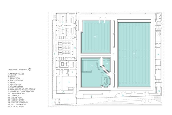 Gallery Of Ubc Aquatic Centre Acton Ostry Architects Mjma 16 Architect Architecture Plan Floor Plans