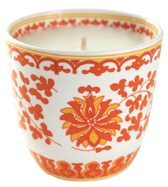 Orange Shanghai Lotus Candle