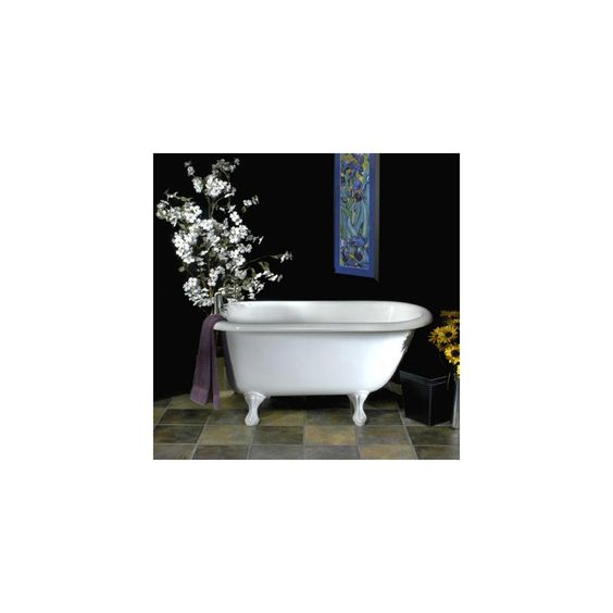 61  Bennington Acrylic Roll Top Clawfoot Tub Extra Deep Wide Interior Pinterest Tops Products and Tubs