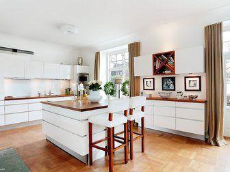 Gardiner Vardagsrum Inspiration : Bilder kök matplats belysning gardin köksö stol hemnet