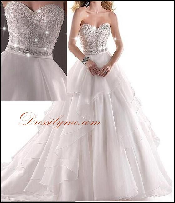 A line wedding dress with blinged out top mermaid style for Blinged out wedding dress