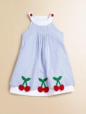Florence Eiseman - Toddler's & Little Girl's Cherry Seersucker Dress - Saks.com