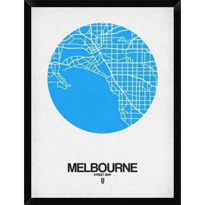 Naxart melbourne street map framed graphic art print on canvas naxart melbourne street map framed graphic art print on canvas in blue size gumiabroncs Image collections
