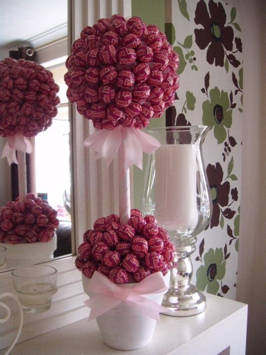 These were fantasic at my engagement party. Made by candy trees on facebook.