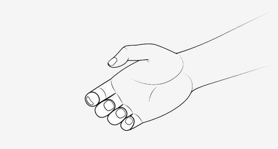 Vẽ bàn tay phía sau lúc bắt tay