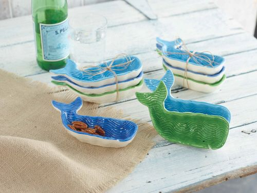 Whale Dip Bowls, Set of 3. Take a dip. Whale shaped dip bowls are the perfect accessory for everyday snacking or entertaining.