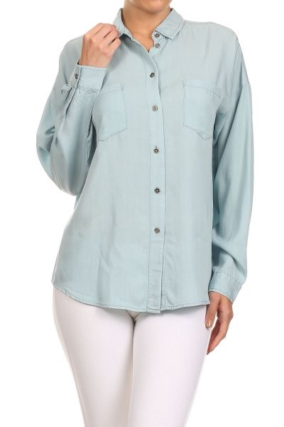 Chambray button up.