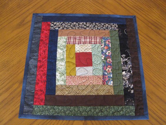 Scrappy Candle Mat / Table Topper by Quiltedhearts5 on Etsy