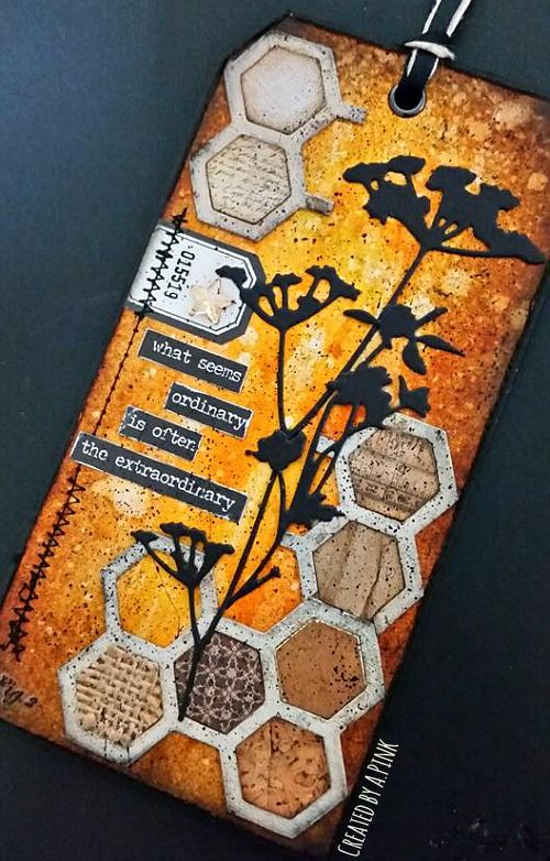 Ink-A-Pink: Tim Holtz 12 Tags of 2016- August