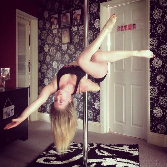 """Today I have been going through the spin city pole bible. I found this pretty trick in there under the name of 'cross leg legend' I think the shape is…"""