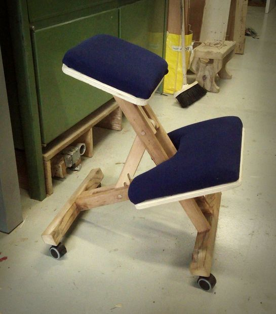 Wood Knee Chair ~ Friends kneeling chair and chairs on pinterest