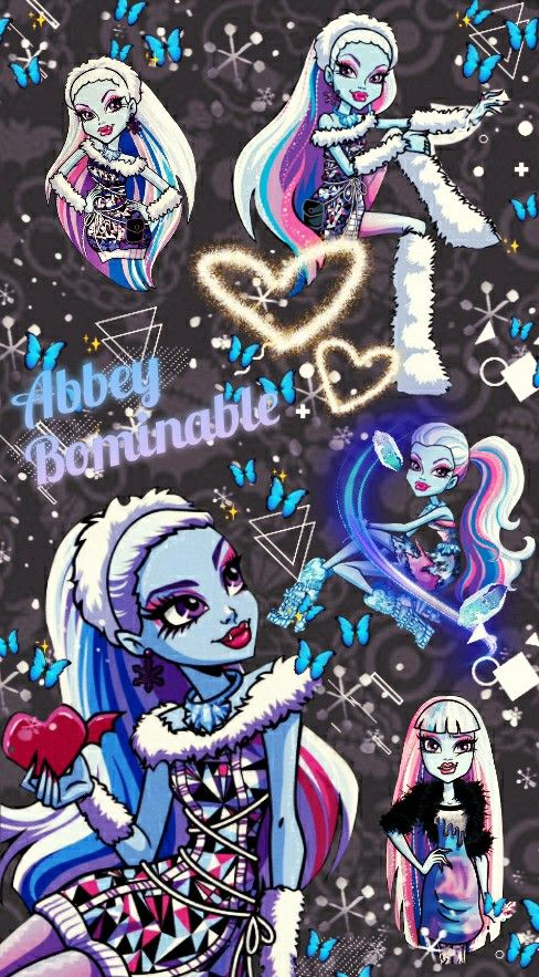 Abbey Bominable Phone Wallpaper Background In 2020 Monster High Characters Monster High Art Monster High