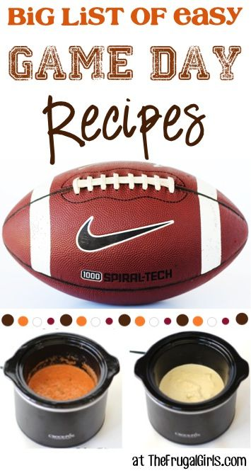 BIG List of Easy Game Day Recipes! ~ from TheFrugalGirls.com ~ you'll love these simple and delicious recipes for the BEST Game Day Food!! #gameday #recipe #thefrugalgirls