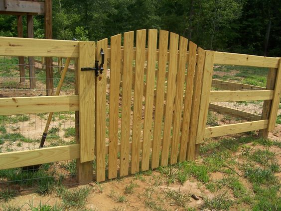 Rail horse board with beautiful wooden picket gate
