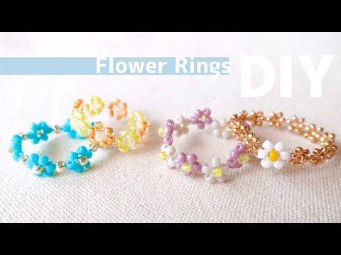 Diy How To Make Beaded Flower Rings シードビーズの花編みリングいろいろ 簡単アレンジパターン ビーズ リング 大人 バザー 子供 ビーズの花の作り方 Youtube ビーズ 花 作り方 ビーズブレスレットのパターン ビーズ