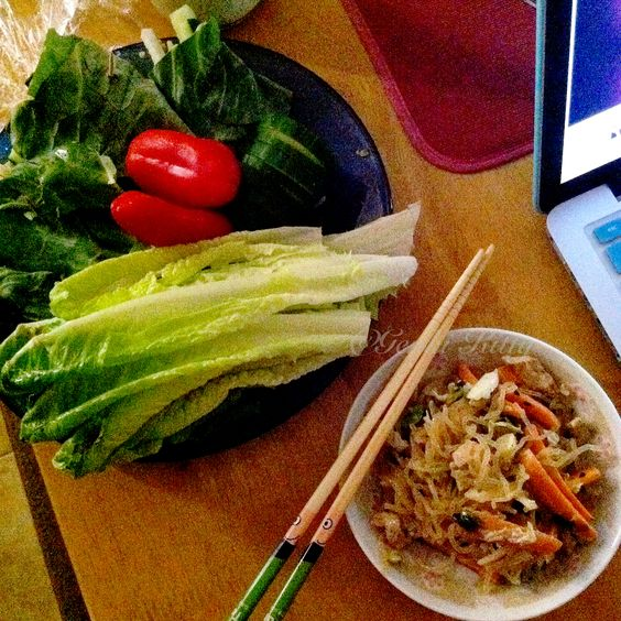 Vegan Vietnamese Noodle Salad and Vegetable wraps