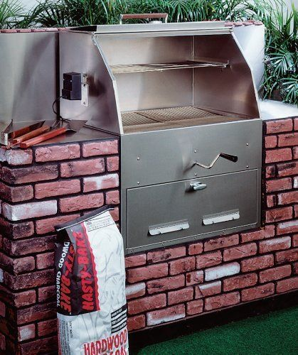 outdoor charcoal grill built in would like to do this but with stone instead of brick outside. Black Bedroom Furniture Sets. Home Design Ideas