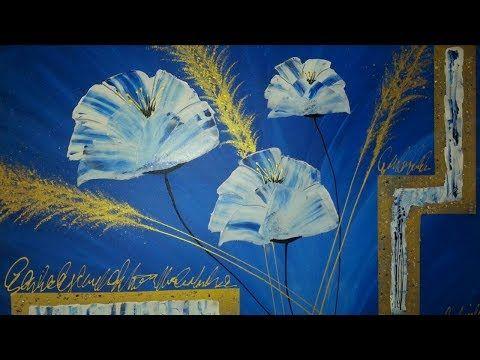 Malen Abstrakt Acryl Blumen Fur Anfanger Abstrakte