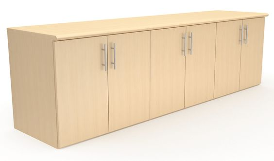 """Provide ample storage for your conference room with easy to open storage doors and adjustable shelves to accommodate your storage needs or choose a Buffet Credenza for extra storage with four Box Drawers on top of the storage cabinets. Available in 72"""", 84"""", and 96"""" width with complimentary edge details to match our conference table edges."""
