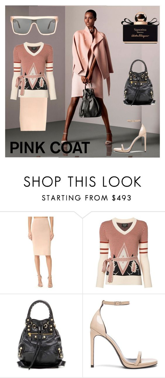 """""""PASTEL PINK EVERYTHING-TO-FACE"""" by m-kints ❤ liked on Polyvore featuring Dion Lee, Creatures of the Wind, Balenciaga, Yves Saint Laurent and Victoria Beckham"""