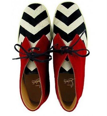 Mime and red bow tie, Christian Louboutin