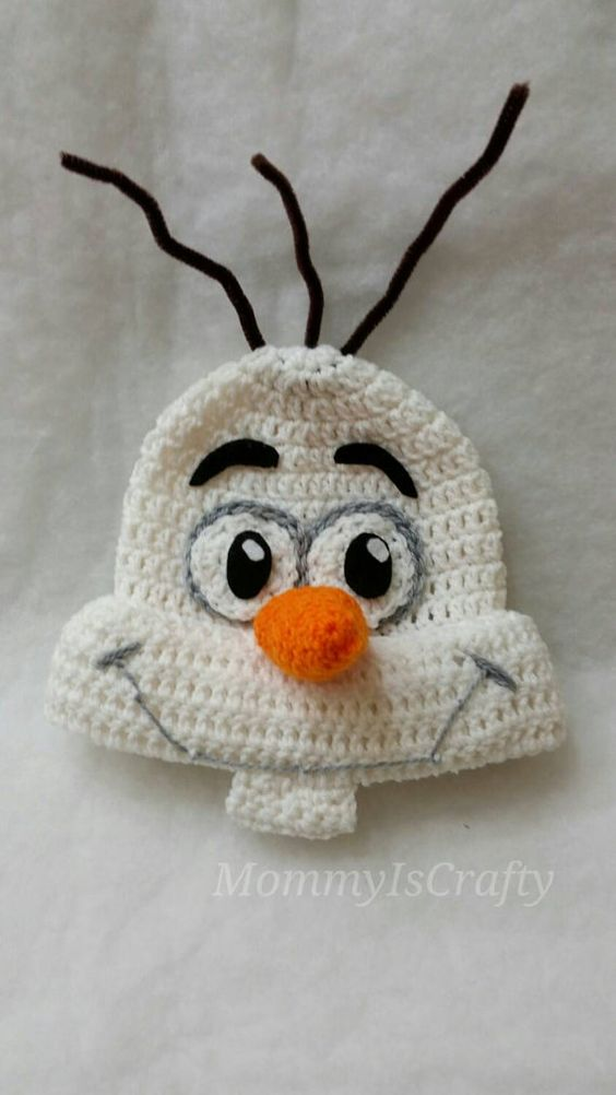 Calling all Frozen Fans! This adorable Olaf Beanie was INSPIRED by the movie Frozen, but crocheted by me :) Perfect for all the Olaf Fans! This hat: