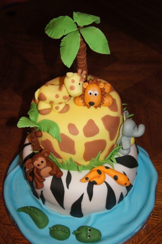 first birthday cake?: Baby Cake, 1St Birthday, First Birthday, Animal Cake, Birthday Ideas, Safari Cake, Birthday Cakes