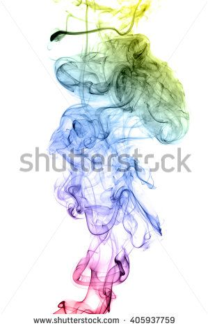 Colored smoke isolated on white background. Collection backgrounds colored smoke on a white background. Abstract background