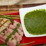 Argentine Chimichurri with Tuna Steak à la Gracie