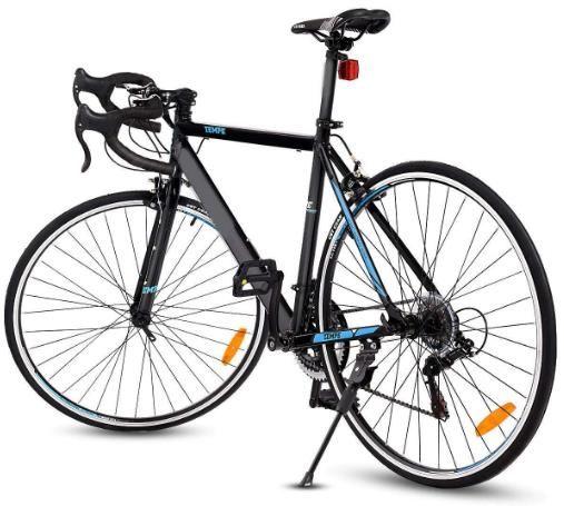 Black 700c 21speed Quick Release Aluminum Road Bike Racing Home