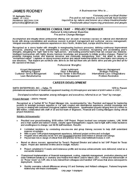 Good resume, Resume examples and Resume on Pinterest