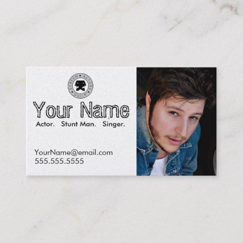 Headshot Business Card For The Working Actor Zazzle Com Business Card Template Design Headshots Singer Gift