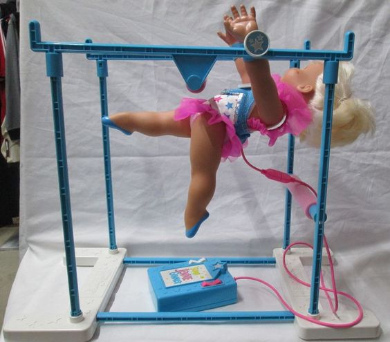 Mattel Super Jennie Gymnast Battery Operated Remote Control Doll 1993 Works! VGC #Mattel #Doll
