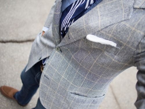 brokeandbespoke:  Vintage Southwick SC and a Louis Waltonhandmade silk repp tie.