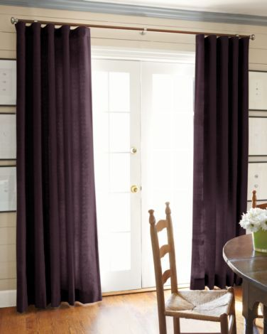 Linen eggplant 9456 smith and noble curtains for for Smith and noble shades